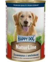Happy Dog Nature Line консервы для собак Телятина с индейкой 400г