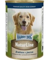 Happy Dog Nature Line консервы для собак Ягненок с рисом 400г