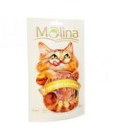 Molina лакомство для кошек Куриные кусочки 80г
