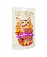 Molina лакомство для кошек Кусочки тунца 80г