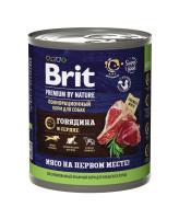 Brit Premium by Nature консервы для собак Говядина и Сердце 850г