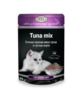 Gina консервы для кошек кусочки Тунца в густом соусе 85г
