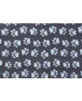 Коврик ProFleece меховой многофункциональный 1*1,6м угольный/голубой