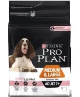 Pro Plan Medium&Large 7+ корм для собак средних/крупных пород старше 7лет с чувст.кожей, лосось