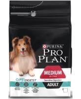 Pro Plan Medium Adult корм для собак средних пород с чувствительным пищеварением, ягненок/рис