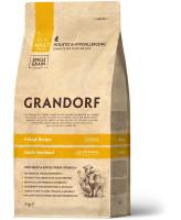 Grandorf Корм с живыми пробиотиками для стерилизованных кошек Четыре вида мяса с бурым рисом