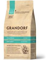Grandorf Корм с живыми пробиотиками для домашних кошек Четыре вида мяса с бурым рисом