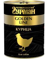 Четвероногий Гурман Golden Line консервы для собак Курица натуральная в желе 340г