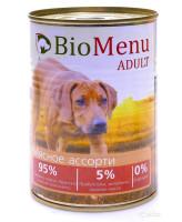 BioMenu консервы для собак Мясное ассорти 410г