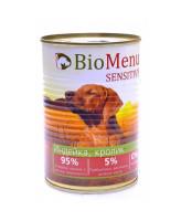 BioMenu Sensitive консервы для собак Индейка и Кролик 410г