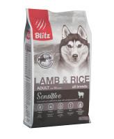 BLITZ Lamb & Rice Корм для собак всех пород с Ягненком и рисом