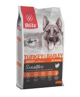 BLITZ Turkey & Barley Корм для собак всех пород с Индейкой и Ячменем