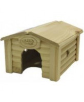 Green Farm Домик для грызунов  с коньковой крышей 18*14*12,5см