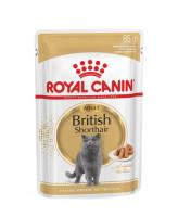 Royal Canin British Shorthair консервы для кошек Британская короткошерстная кусочки в соусе 85г