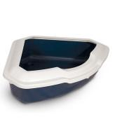 Туалет для кошек Triol угловой СТ03 56,5*42,5*15см темно-синий