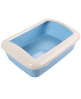Туалет для кошек Triol прямоугольный с бортом 42*30*14,5см голубой