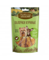 Деревенские лакомства для собак мини-пород Палочки куриные 60г