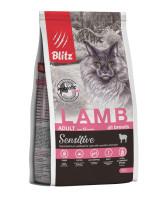 BLITZ Sensitive Корм для взрослых кошек с Ягненком