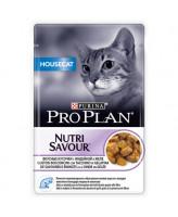 Pro Plan  консервы для домашних кошек, кусочки в желе индейка 85г Housecat, пауч