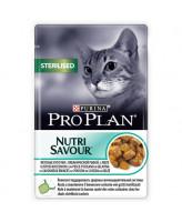 Pro Plan  консервы для кастрированных кошек, кусочки в желе ок.рыба 85г Sterilised, пауч