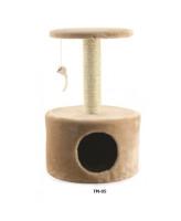 Домик-когтеточка Triol с игрушкой 38*38*61см