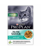 Pro Plan  консервы для кастрированных кошек, кусочки в соусе ок.рыба 85г Sterilised, пауч