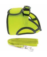 TRIOL Комплект Мягкая шлейка - жилетка (обхват груди 30см) + поводок 15мм*1,2мм