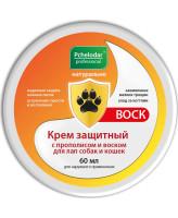 Пчелодар Крем защитный с прополисом и воском для лап собак и кошек 60мл