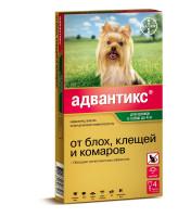 Адвантикс  40С капли для собак до 4кг от блох и клещей