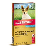 Адвантикс 100С  капли для собак 4-10кг от блох и клещей