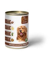CLAN CLASSIC консервы для собак Мясное ассорти с индейкой 340г