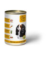 CLAN CLASSIC консервы для собак Мясное ассорти с рубцом 340г
