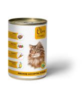 CLAN CLASSIC консервы для кошек Мясное ассорти с птицей 340г