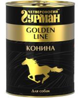 Четвероногий Гурман Golden Line консервы для собак Конина натуральная в желе 340г