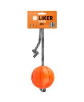 Collar Мячик Лайкер Корд на шнуре для собак 7см оранжевый