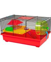 INTERZOO Клетка для грызунов TEDDY LUX +PL, цветная 42*29*26см