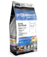 ProBalance Sterilized Корм для стерилизованных кошек с курицей и рисом