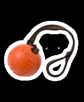 Doglike Мяч средний с лентой для собак 8,5см оранжевый DM-7345