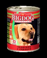 Зоогурман Big Dog консервы для собак 850г Телятина с кроликом