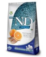 Farmina N&D OCEAN MEDIUM/MAXI Беззерновой корм для собак средних/крупных пород Сельдь, апельсин