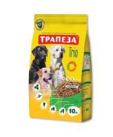 Трапеза Трио корм для собак Индейка, кролик, телятина 10кг