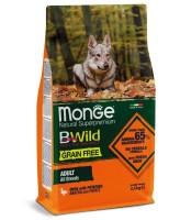 Monge Dog BWild Grain Free беззерновой корм для собак всех пород Утка с картофелем