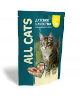 All Cats консервы для кошек с Курицей в соусе 85г пауч