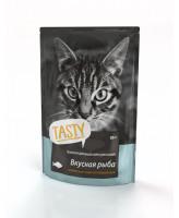 Тasty консервы для кошек с Рыбой в желе 85г пауч
