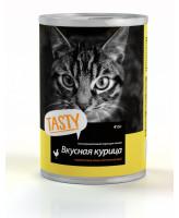 Тasty консервы для кошек Курица в соусе 415г