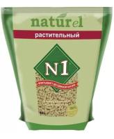 №1 Naturel Комкующийся древесный наполнитель Растительный 4,5л