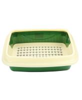 Туалет для кошек Догман Триплекс с сеткой и бортом малый 41*31*13см цвета в ассортименте