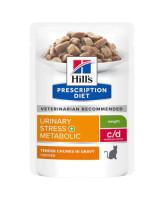 HILL'S C/D Urinary Stress +Metabolic консервы для кошек профилактика идиопатического цистита 85г