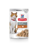 HILL'S Science Plan Sterilised консервы для стерилизованных кошек Индейка в соусе 85г пауч