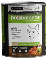 ProBalance Sensitive Консервы для собак с чувствительным пищеварением, Ягненок 850г